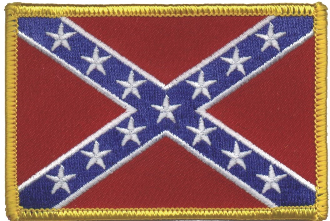 """NEW  3.5/"""" NORTH CAROLINA STATE SHIELD FLAG EMBROIDERED PATCH IRON-ON"""