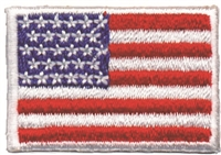"US embroidered flag patch. 1"" tall x 1 9/16"" wide embroidered patch for souvenir or uniform"