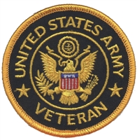 6861/V - ARMY VETERAN souvenir embroidered patch