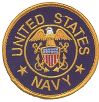 UNITED STATES NAVY on navy blue twill souvenir embroidered patch
