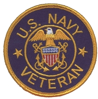 U.S. NAVY VETERAN souvenir embroidered patch