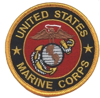 6863-01 - MARINES on black twill souvenir embroidered patch