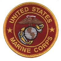 6863-36 - MARINES on red twill souvenir embroidered patch