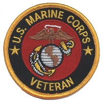 MARINES VETERAN souvenir embroidered patch