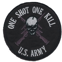 6872 - ARMY - ONE SHOT ONE KILL souvenir embroidered patch