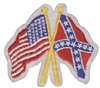 US x Rebel - Confederate flags souvenir embroidered patch