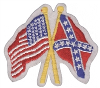 6875 - US x Rebel - Confederate flags souvenir embroidered patch