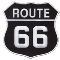 "ROUTE 66 8"" souvenir embroidered patch for back"