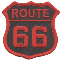 6876-36 - ROUTE 66 souvenir embroidered patch