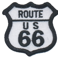 ROUTE 66 souvenir embroidered patch