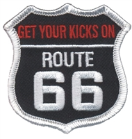 6879 - GET YOUR KICKS ON RT 66 souvenir embroidered patch