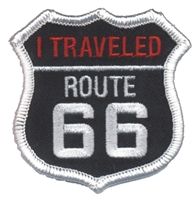 I TRAVELED ROUTE 66 souvenir embroidered patch