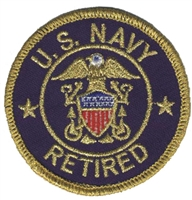 6882 - NAVY RETRIED souvenir embroidered patch