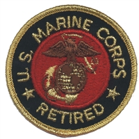 6883 - MARINES RETIRED souvenir embroidered patch
