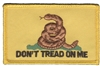 6884 - DON'T TREAD ON ME Gadsden flag souvenir embroidered patch