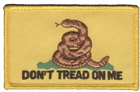 DON'T TREAD ON ME Gadsden flag souvenir embroidered patch