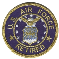 6885 - AIR FORCE RETIRED souvenir embroidered patch