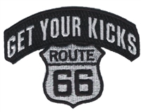 6894 - GET YOUR KICKS ROUTE 66 souvenir embroidered patch