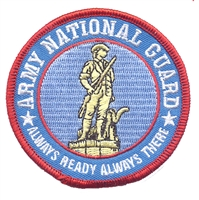 ARMY NATIONAL GUARD souvenir embroidered patch
