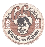 U.S. 66 Will Rogers Highway souvenir embroidered patch