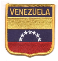 6901 - VENEZUELA medium flag shield souvenir embroidered patch