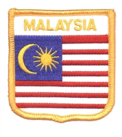 6961 - MALAYSIA flag shield souvenir embroidered patch
