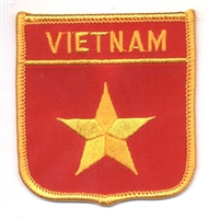 6971 - VIETNAM medium flag shield souvenir embroidered patch