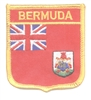 6981 - BERMUDA medium flag shield souvenir embroidered patch
