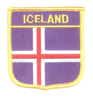 6991 - ICELAND medium flag shieldsouvenir embroidered patch