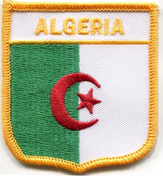 7021 - ALGERIA medium flag shield souvenir embroidered patch