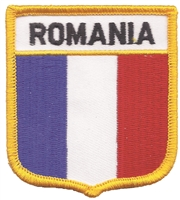 7061 - ROMANIA medium flag shield souvenir embroidered patch