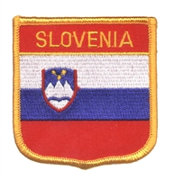SLOVENIA medium flag shield souvenir embroidered patch