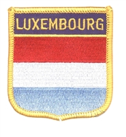 LUXEMBOURG flag shield souvenir embroidered patch