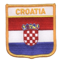 7091 - CROATIA medium flag shield souvenir embroidered patch