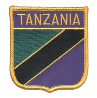 7141 - TANZANIA medium flag shield souvenir embroidered patch
