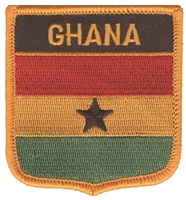 7151 - GHANA flag shield souvenir embroidered patch
