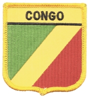 7171 - CONGO medium flag shield souvenir embroidered patch