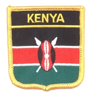 7191 - KENYA flag medium shield souvenir embroidered patch