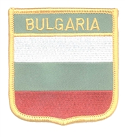 7196 - BULGARIA medium flag shield souvenir embroidered patch