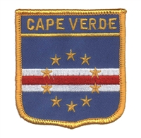 7197 - CAPE VERDE medium flag shield souvenir embroidered patch