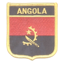 7199 - ANGOLA medium flag shield souvenir embroidered patch