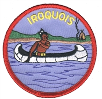 IROQUOIS souvenir embroidered patch