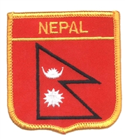 7301 - NEPAL medium flag shield souvenir embroidered patch