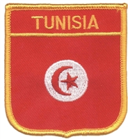 TUNISIA flag shield #7321