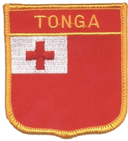 TONGA medium flag shield souvenir embroidered patch