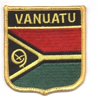 7361 - VANUATU medium flag shield souvenir embroidered patch