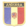 7381 - ANDORRA medium flag shield souvenir embroidered patch