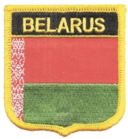7383 - BELARUS medium flag shield souvenir embroidered patch