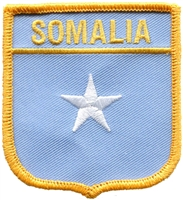 7384 - SOMALIA medium flag shield souvenir embroidered patch