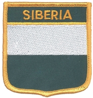 SIBERIA medium flag shield souvenir embroidered patch